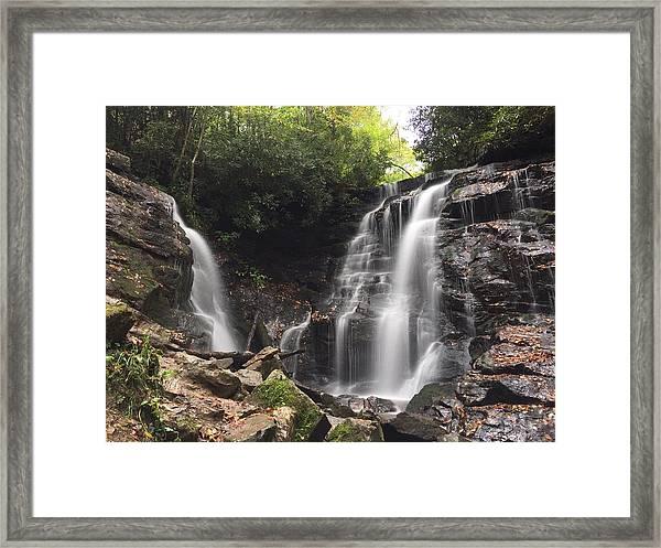 Soco Falls-landscape Version Framed Print