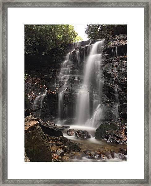 Soco Falls-portrait Version Framed Print