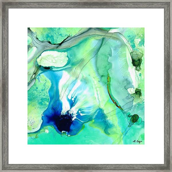 Soft Green Art - Gentle Guidance - Sharon Cummings Framed Print