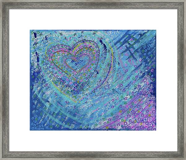 Soft Heart Framed Print