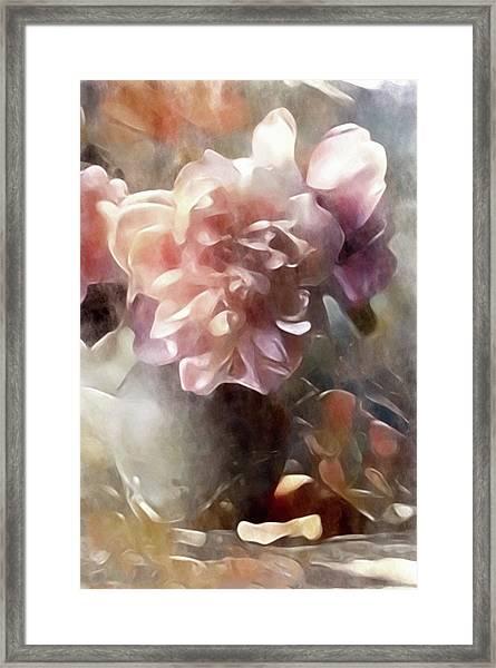 Soft Pastel Peonies Framed Print
