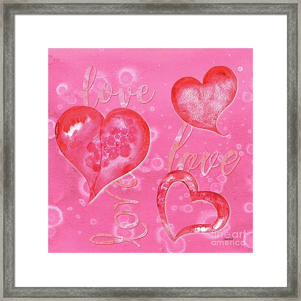 Soft Valentine Framed Print