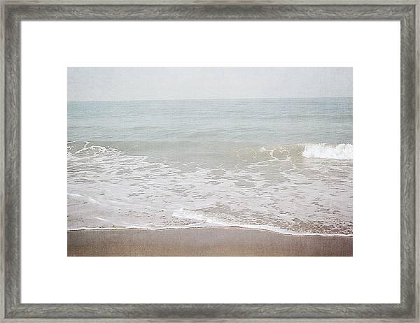Soft Waves- Art By Linda Woods Framed Print