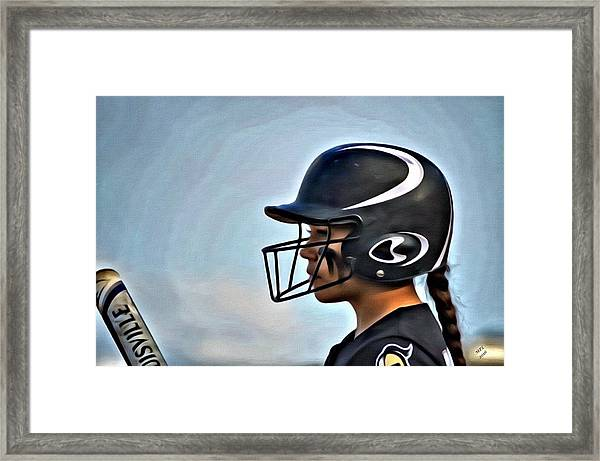 Softball Beauty Girl Framed Print