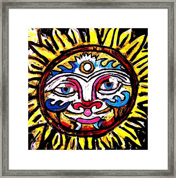 Sol Horizon Band Framed Print