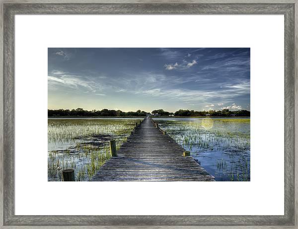 Sol Legare Dock Charleston Sc Framed Print