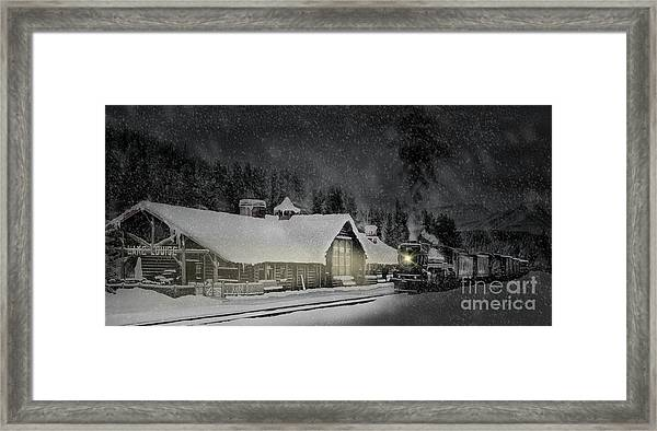 Solace From The Storm Framed Print