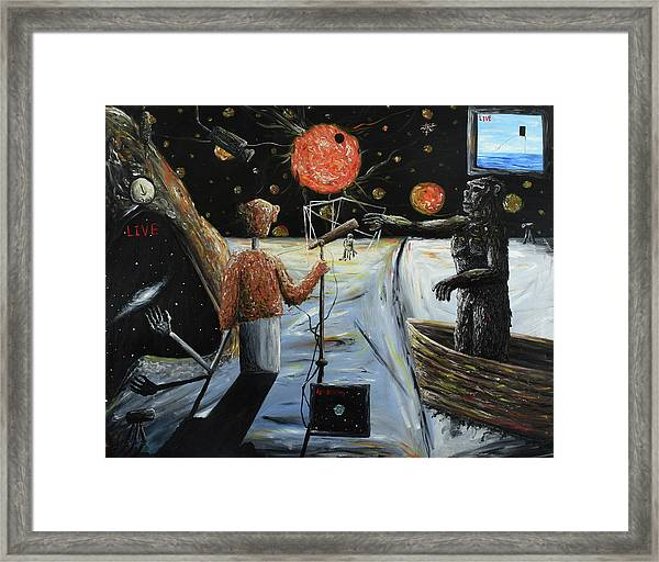 Solar Broadcast -transition- Framed Print