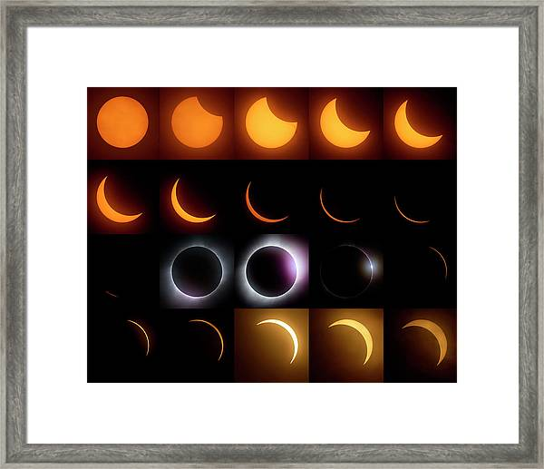 Solar Eclipse - August 21 2017 Framed Print
