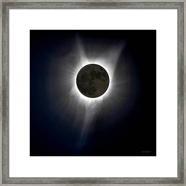 Solar Eclipse Corona Framed Print