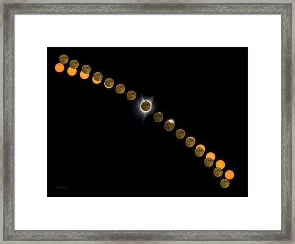Solar Eclipse Stages 2017 Framed Print