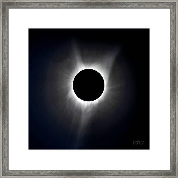 Solar Eclipse Totality Corona Framed Print