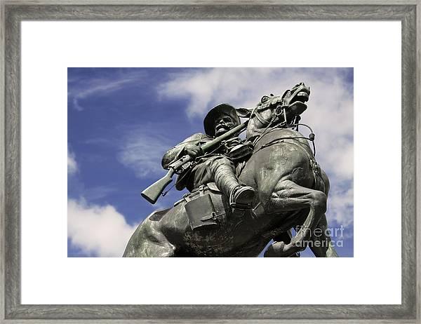 Soldier In The Boer War Framed Print