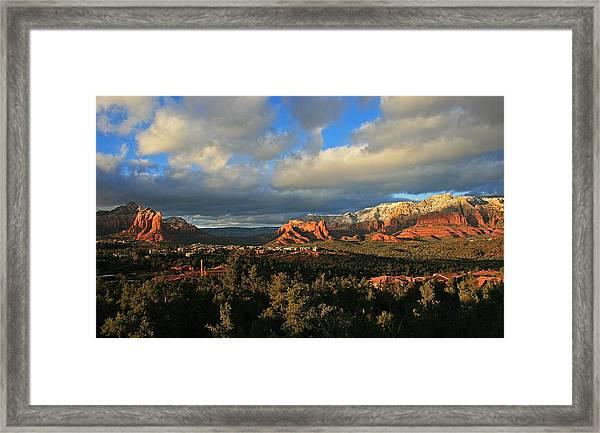 Soldier Pass Sunset Framed Print