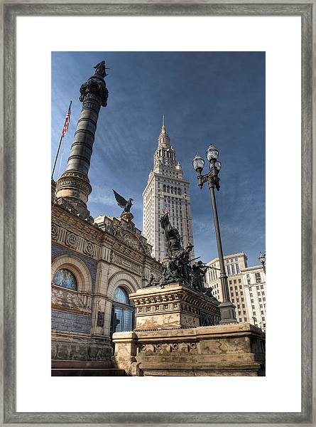 Soldiers' And Sailors' Monument Framed Print