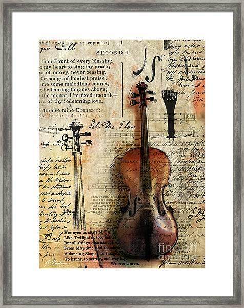 Soli Deo Gloria Framed Print
