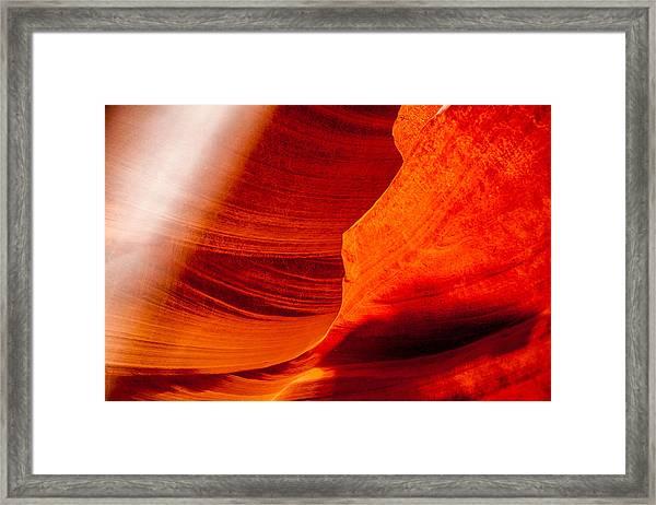 Solitary Beam Framed Print