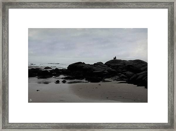 Solitude At Goose Rocks Framed Print