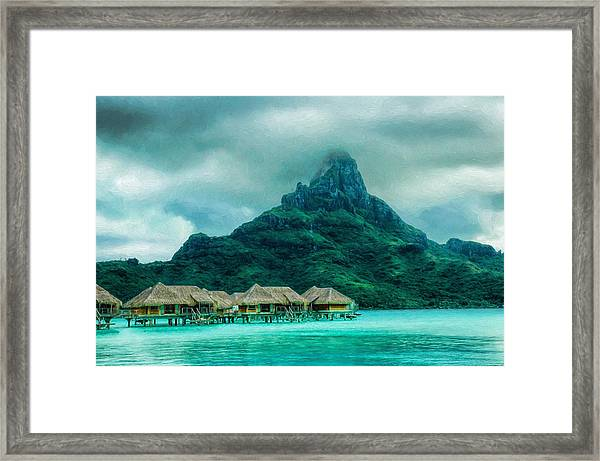 Solitude In Bora Bora Framed Print