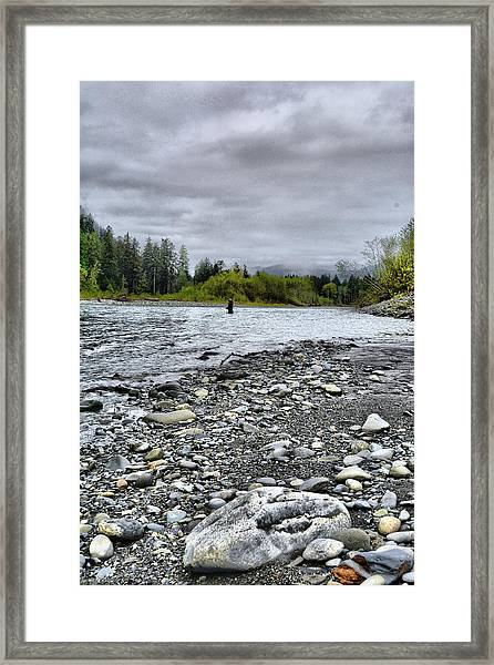 Solitude On The River Framed Print