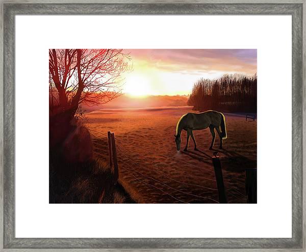 Solstice Sunrise Framed Print