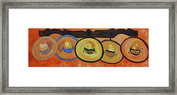 Sombreros Framed Print