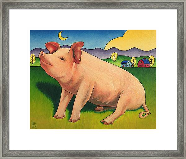 Some Pig Framed Print by Stacey Neumiller