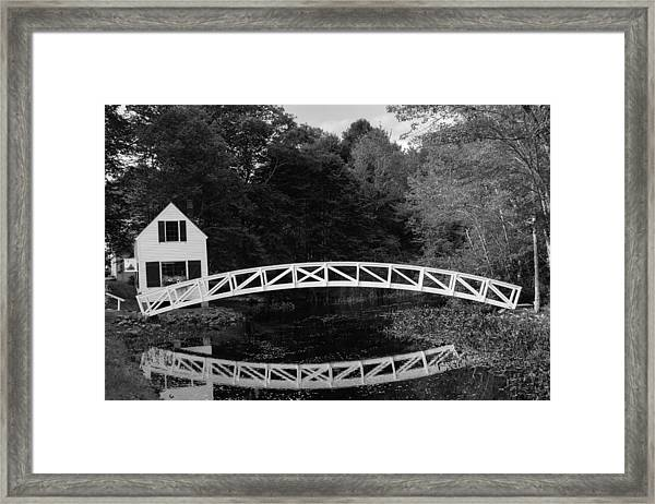 Somesville Bridge In Acadia National Park Framed Print