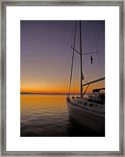 Somewhere Beyond The Sea ... Framed Print