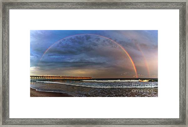Framed Print featuring the photograph Somewhere... by DJA Images