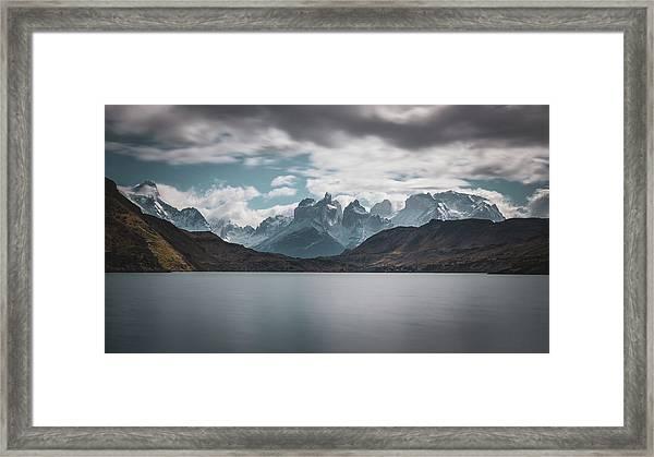 Somewhere Over The Mountain Range Framed Print