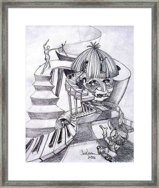 Song And Dance Framed Print