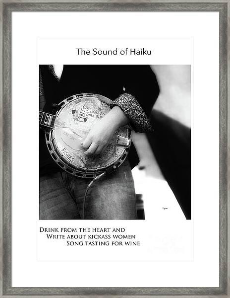 Song Tasting For Wine  Framed Print by Steven Digman