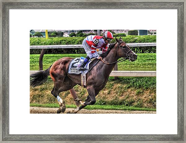 Songbird With Mike Smith Saratoga August 2017 Framed Print
