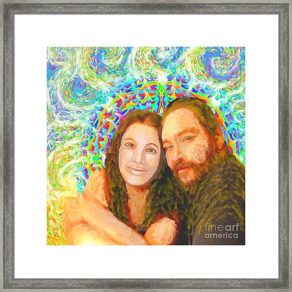 Sonia Marie And Her Sweetheart Framed Print