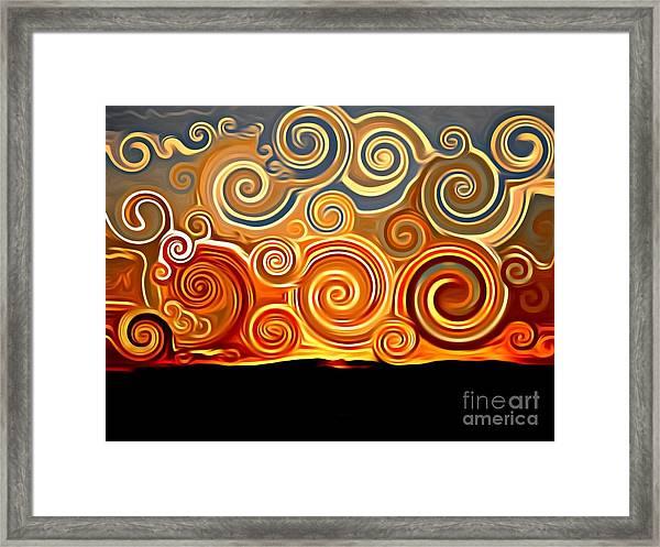 Sonora Sunrise  Framed Print