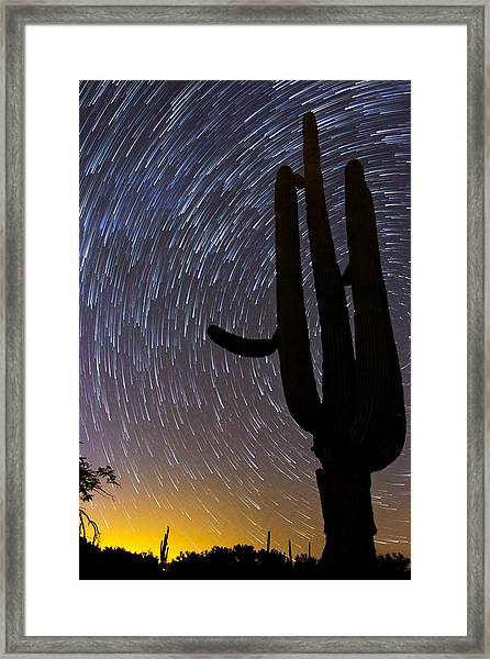 Sonoran Startrails - Reaching For The Stars Framed Print