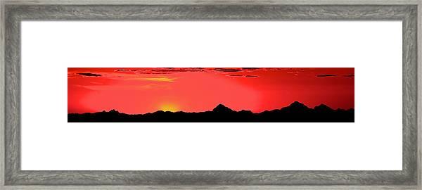 Sonoran Sunset  Framed Print