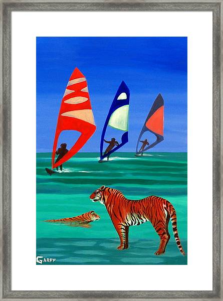 Tigers Sons Of The Sun Framed Print