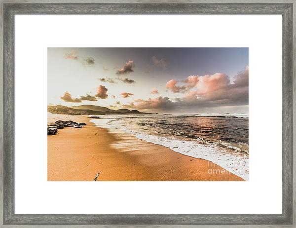 Soothing Seaside Scene Framed Print