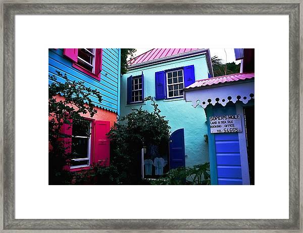 Soper's Hole. British Virgin Islands Framed Print
