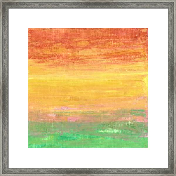 Sorbet Sunset Framed Print
