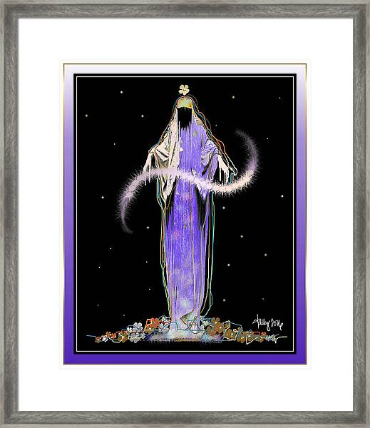 Framed Print featuring the mixed media Sorciere  by Larry Talley