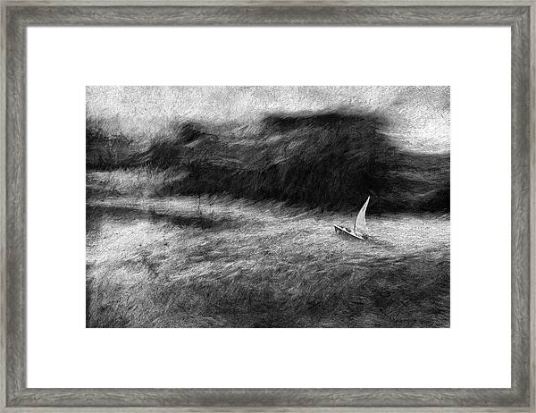 SOS Framed Print