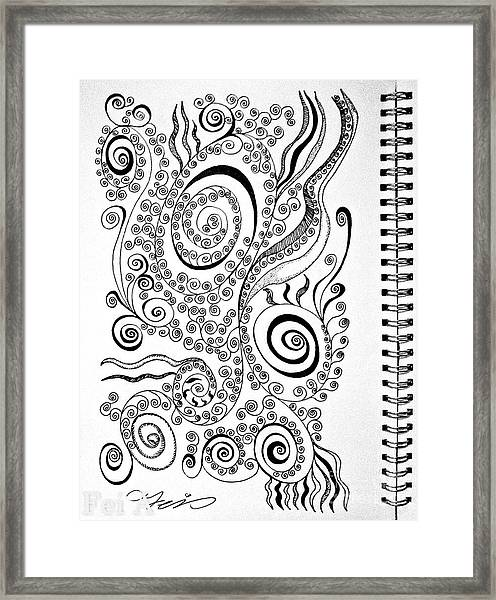 Sound Of The Lines Framed Print