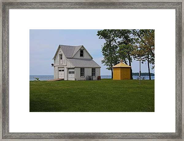 South Bass Island Lighthouse Barn And Oil Storage Building I Framed Print
