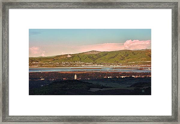 South Bay With Stanford Framed Print