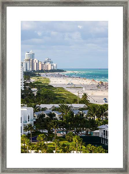 South Beach Late Afternoon Framed Print