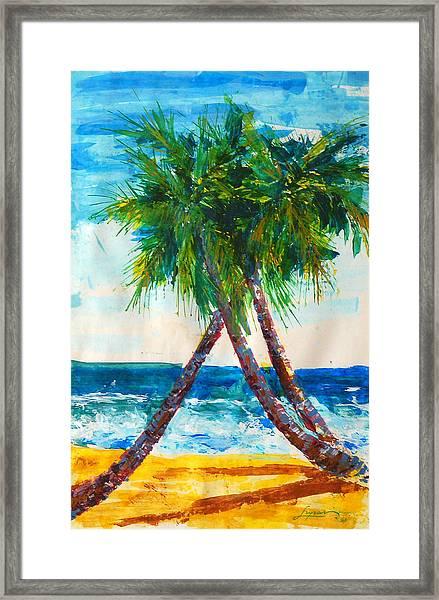 South Beach Palms Framed Print