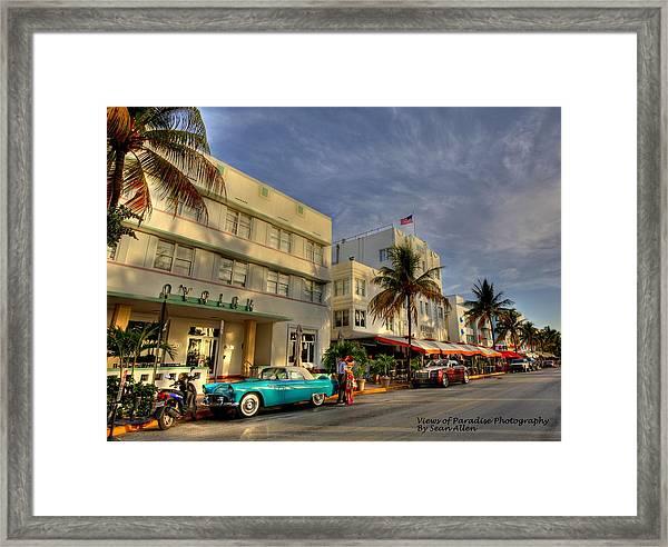 South Beach Park Central Hotel Framed Print